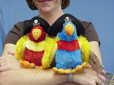 Plush Pirate Parrot with Wrist Strap