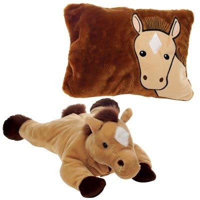 Horse Peek-A-Boo Plush Pillow
