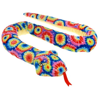 Tie Dye Snake Stuffed Animal (61-inch)