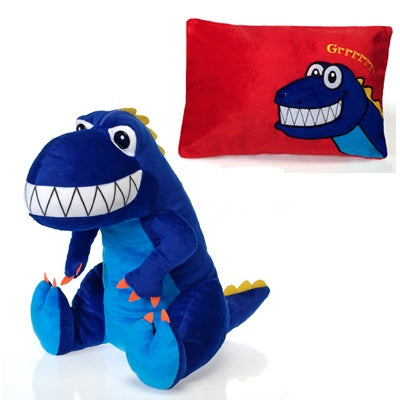 Dinosaur Peek-A-Boo Plush Pillow