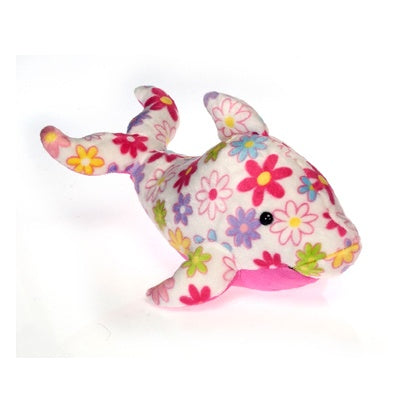 Pick Me: Plush Floral Dolphin(14-inch)