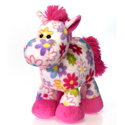 Pick Me: Plush Floral Horse (10-inch)