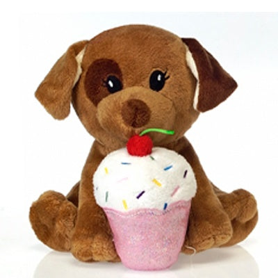 Fiestalicious: Plush Puppy with Cupcake (7-inch)