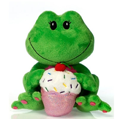 Fiestalicious: Plush Frog with Cupcake (7-inch)