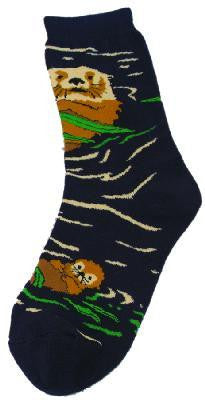 Otters in Water Socks