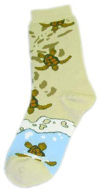 Turtles on Beach Socks