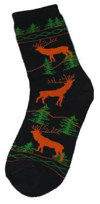 Elk Design Socks