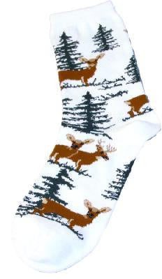 Deer In Trees Socks
