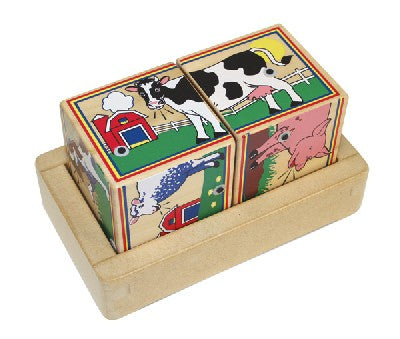 Wooden Farm Sound Blocks