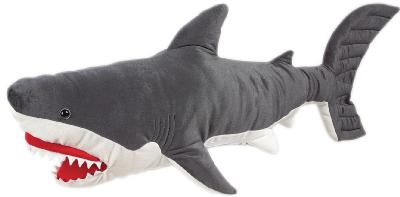 Jumbo Plush Great White Shark