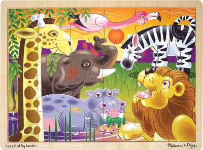 Wooden Jigsaw Puzzle: African Plains