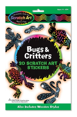 Scratch Magic Bugs & Critters Stickers