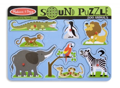 Wooden Zoo Animals Sound Puzzle