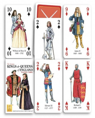 Kings and Queens of England Playing Cards