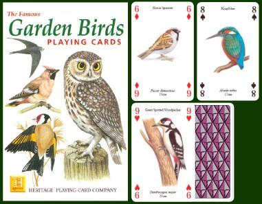 Garden Birds Playing Cards