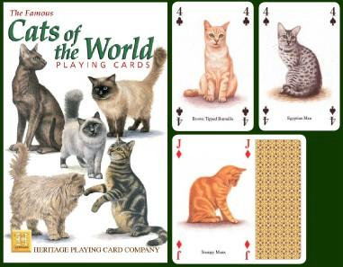 Cats Playing Cards