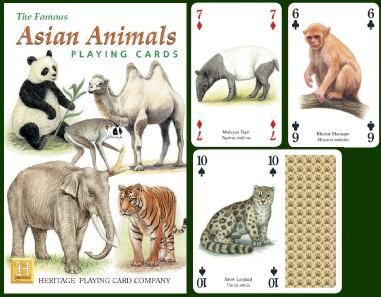 Asian Animals Playing Cards