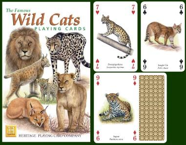 Wild Cats Playing Cards