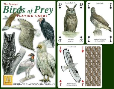 Birds of Prey Playing Cards