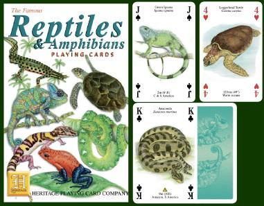 Reptiles & Amphibians Playing Cards