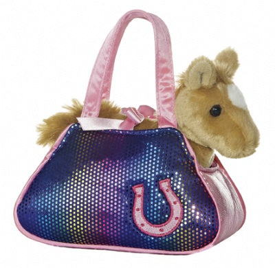 Betsey Bling Pet Carrier with Plush Horse