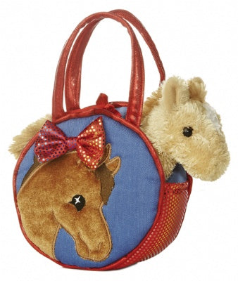Pretty Pony Pet Carrier with Plush Horse