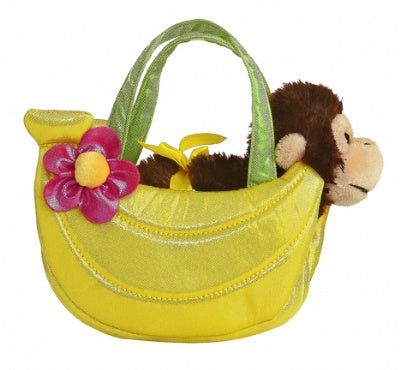 Banana Pet Carrier with Plush Monkey
