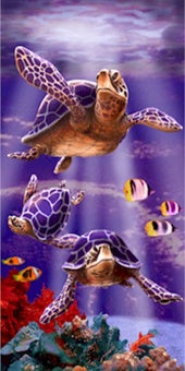 Sea Turtles Beach Towel