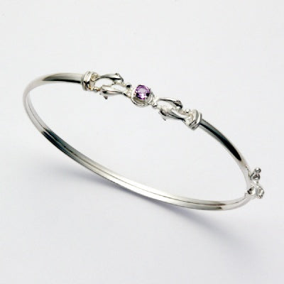 Dolphin Quartet with Amethyst Bracelet