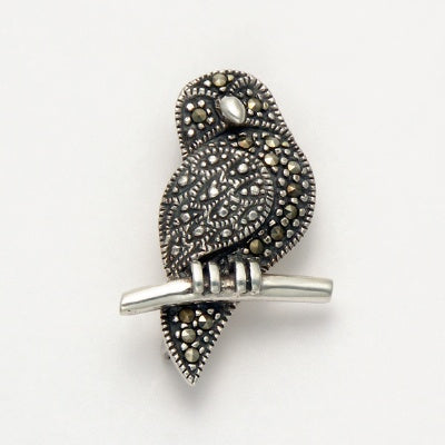 Marcasite Owl Pin