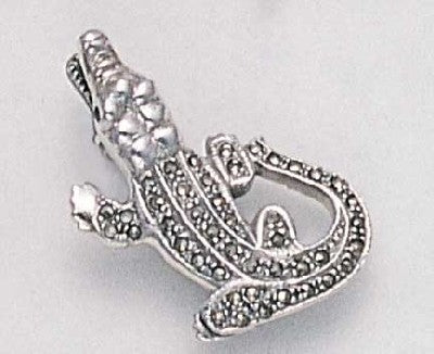 Marcasite Alligator Pin