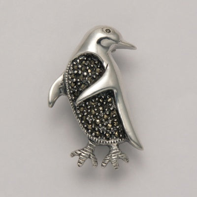 Penguin Marcasite Pin