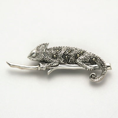 Small Marcasite Lizard On Stick Pin