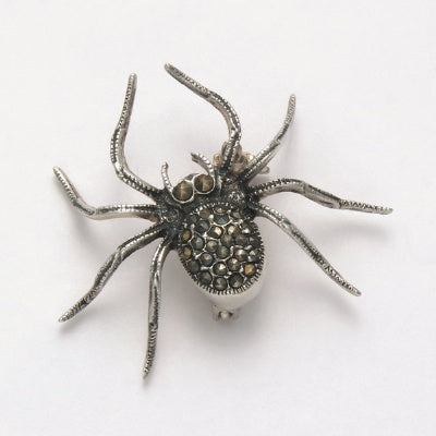 Marcasite Spider Pin