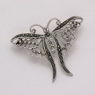 Marcasite Butterfly Pin