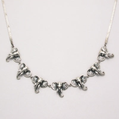 Seven Elephant Head Necklace