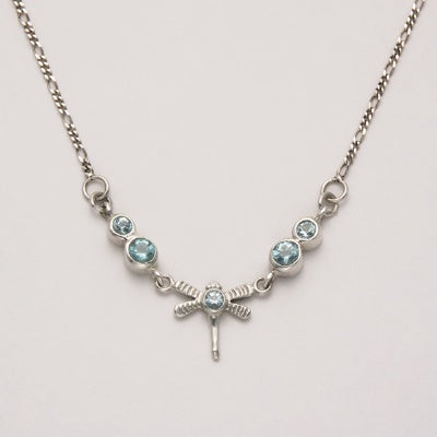 Dragonfly Necklace with Blue Topaz