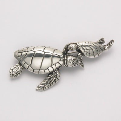 Mother Baby Sea Turtle Pin