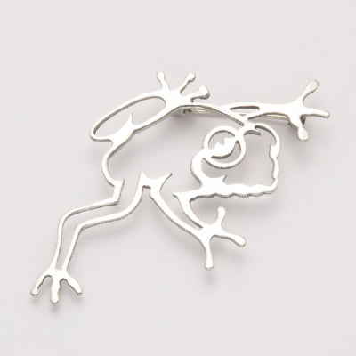 Open Frog Pin