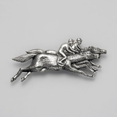 Finish Line Horse Pin