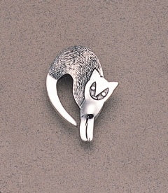 Abstract Arch Back Cat Pin