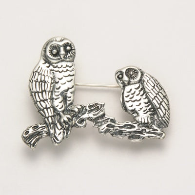 Two Owls Pin