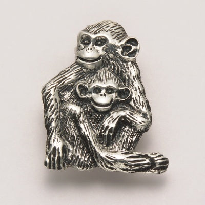 Mother and Baby Monkey Pin
