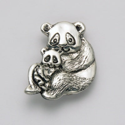 Mother with Baby Panda Pin