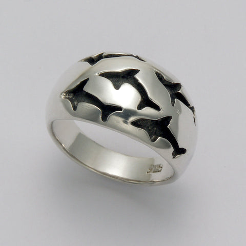 Shark Imprint Dome Ring