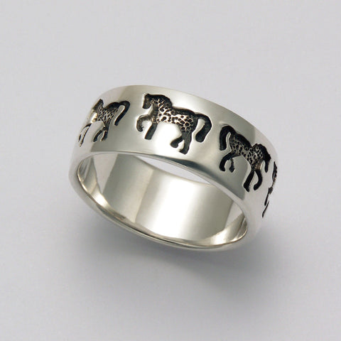Horse Imprints Ring