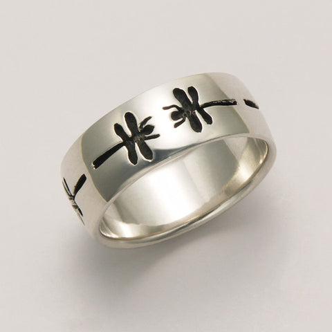 Dragonfly Imprint Band Ring