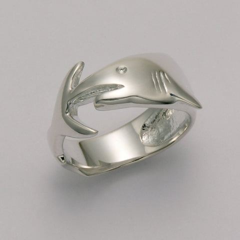 Shark Wrap Band Ring