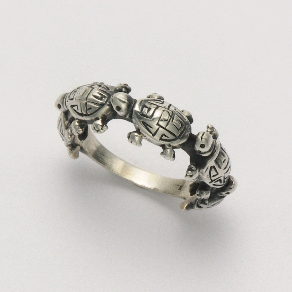 Turtle Train Band Ring