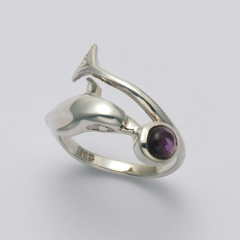 Dolphin Wrap with Amethyst Ring